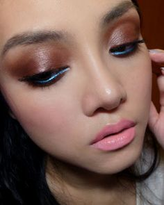 I imagine you could substitute the bright turquoise w/ pretty much anything else. Smoky Brown with Electric-Blue Liner (Bourjois. - The Makeup Box Blue Liner, Lower Lashes, Bourjois, Makeup Box, Instagram Makeup, Beauty News, Make Me Up, Face Hair, Electric Blue