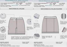 Fichas técnicas falda