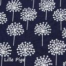 """Stoff Blumen - 0,5m Dänische Pusteblumen """"Pure"""" dunkelblau - ein Designerstück von lille-pige-stoffe bei DaWanda"""