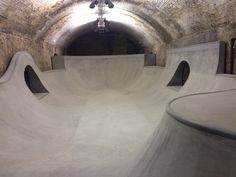 The bowl in tunnel #4 of the the House of Vans London skatepark.