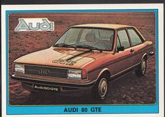 Panini Super Auto 1977 Sticker - No 55 - Vintage Car - Audi 80 GTE | eBay