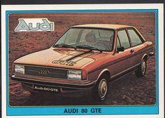 Panini Super Auto 1977 Sticker - No 55 - Vintage Car - Audi 80 GTE | eBay