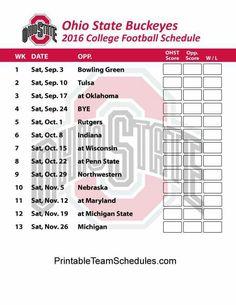 The 2016 OSU Schedule