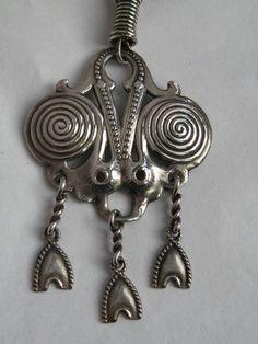 Kalevala Koru, Vintage Silver Necklace, (Ancient Design). #Finland