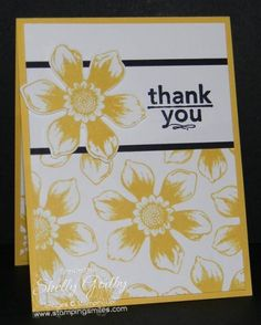 Stampin' Up! Beautiful Bunch Card in Daffodil Delight