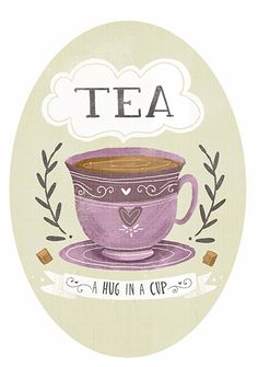 This is a whimsical hand lettered illustration inspired by tea and love.