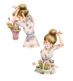 Adorable Illustrations by Genevieve Godbout Illustration Mignonne, Art Et Illustration, Character Illustration, Art Mignon, Pin Up, Poses, Love Art, Art Drawings, Concept Art