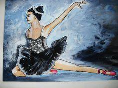 Ballarina Ballet PRINT ORIGINAL PAINTING by darinecraftyshop, £15.00
