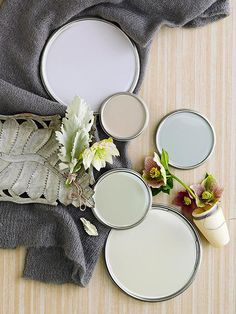 Neutral Paint Colors ~ With tones as varied as driftwood gray and creamy latte, neutrals are anything but boring. Browse our top neutral paint color picks to find the right hue for your rooms. Plus, learn the best tricks for decorating in neutrals. Neutral Paint Colors, Interior Paint Colors, Paint Colors For Home, Wall Colors, House Colors, Gray Paint, Playroom Colors, Behr Colors, Gray Color