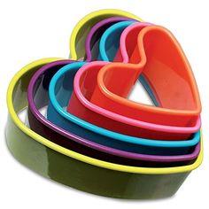 Moldes con forma de corazón 5 piezas