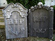 image result for large halloween tombstones