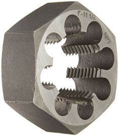 Drill America DWT Series Qualtech Carbon Steel Hex Pipe Threading Die 11112 NPT Pack of 1 Model DWTHXNPT1INCH >>> Check out this great product.