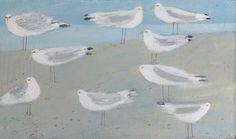 Nine Gulls by Hannah Hann