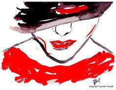 Armani Fashion Illustration fall 2012 by Jennifer Purcell