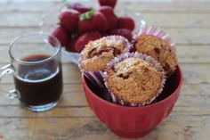 Muffins de Morango e Iogurte