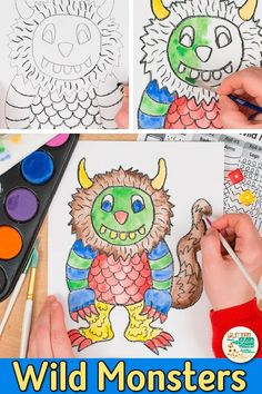 Teach your art students about visual textures with this Wild Monster Drawing game. Explore the elements of art by designing a wild thing. Roll-a-dice game! Art Games For Kids, Food Art For Kids, Black History Month, Projects For Kids, Art Projects, Art Sub Plans, Das Abc, Drawing Activities, Book Activities