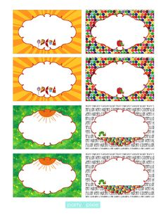 Very Hungry Caterpillar - Inspired Food Labels (Tent and Flat). $5.00, via Etsy.