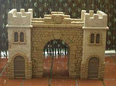 Mi portal Portal Fontanini Nativity Game Terrain Birth Of Jesus Ceramic Hous garden ideas castles Christmas Crib Ideas, Christmas Nativity, Christmas Deco, Merry Christmas, Play Houses, Bird Houses, Fontanini Nativity, Game Terrain, Fantasy Castle