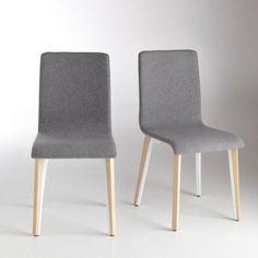 Chaise revêtement feutrine, lot de 2, Shingu