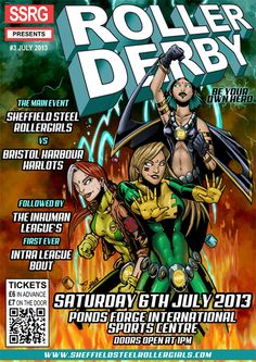 Another amazing poster by Reckless Hero - our bout posters just keep getting better!!
