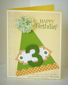Stampin Up! - Just Add Cake DSP, Perfect Pennants Die#Repin By:Pinterest++ for iPad#
