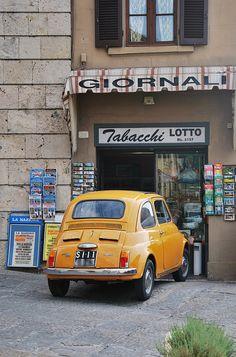 Fiat 500 - almost fits through the door.
