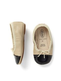 Patent Toe Tip Ballerina by Old Soles at Gilt