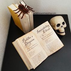 DIY Spell Books. Step-by-step instructions on how to put together your own Spell Books for the perfect Halloween decor.