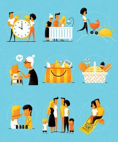 Manual dos Pais by Alexandre Mauro, via Behance