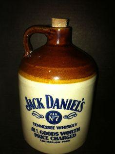 "$39.98 FREE SHIPPING!!!Vintage Jack Daniel's Old No 7 Tennesse Whiskey Crock Jug USA Made 6 5"" w Cork   eBay"