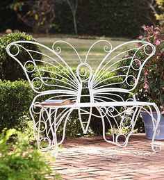 Butterflies make every garden more special, so add this butterfly garden bench to your landscape for an elegant look. It's also at home in a sunroom or entry, with a butterfly shaped backrest that's sure to be a focal point of any space.