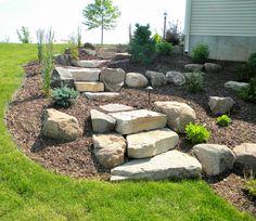 Clever & Beautiful Yard Island Landscaping for Backyard and Front yard 38 - Modern Landscape Stairs, Landscape Design, Love Garden, Garden Ideas, Dream Garden, Backyard Ideas, Modern Front Yard, Front Yard Landscaping, Landscaping Ideas