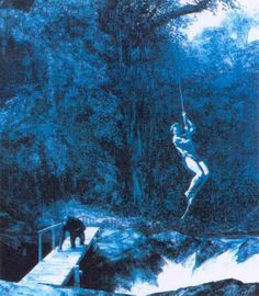 Mark Tansey Ape 1984, oil on canvas. Follow #MarkTansey Pins on Pinterest, curated by Joseph K. Levene Fine Art, Ltd. | JKLFA.com | http://pinterest.com/jklfa/mark-tansey/
