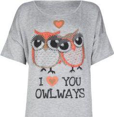 I Love You Owlways Girls Tee on Wanelo