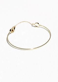 & Other Stories Bangle Bracelet ($19 in M/L Gold)