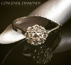 Antique inspired cluster diamond ring