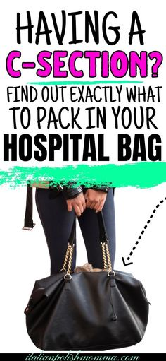 Here are 15 things I packed in my c-section hospital bag that you don't want to miss! Trust me, I've had 4 c-sections and this is what you need if you're having a scheduled c section! Also included is a free printable hospital bag packing list! #hospitalbag #csection #pregnancy #csectionhospitalbag #hospitalbagchecklist Csection Hospital Bag, Birth Hospital Bag, Pregnancy Hospital Bag Checklist, Hospital Bag List, Packing Hospital Bag, Hospital Bag For Mom To Be, Pregnancy Labor, Pregnancy Advice, Maternity Bag List