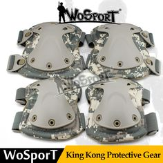 WOSPORT Tactical Sport Protective King Kong Gear Set Outdoor Multi Color Safety Kneepad Elbow for Military Airsoft Hunting