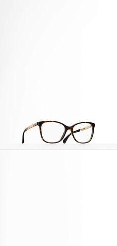 db79dd729c301 Óculos de grau quadrado, acetato   metal-preto - CHANEL Óculos De Grau  Quadrado