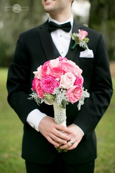 Pretty in pink groom.