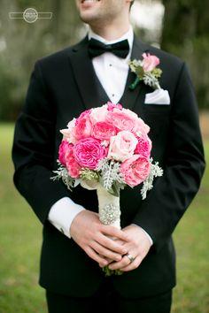 Pretty in pink groom.