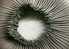 #Ceramic sculptures by Alberto Bustos brilliantly imitate the delicate nature of sprouting grass. #sculpture #art