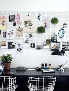 I've been looking for ways to organize the small desk area in my studio [we…
