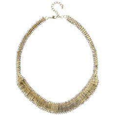 Kette mit Strass ab 19,95 € ♥ Hier kaufen: http://www.stylefruits.de/kette-mit-strass-promod/p5194605 #statement #gold