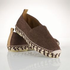 Leather-Trim Linen Espadrille - Polo Ralph Lauren Casual - RalphLauren.com