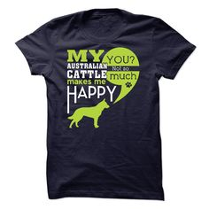 Australian Cattle T-Shirts, Hoodies. BUY IT NOW ==► https://www.sunfrog.com/Pets/Australian-Cattle-40783587-Guys.html?id=41382