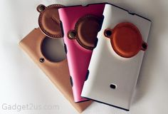 Nokia 1020 leather case Premium leather case (brown) with lens cover