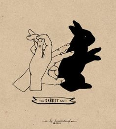 Lara Mendes Hand Shadows - If you've ever been interested in learning how to make very cool and seemingly complex shadow art on your walls using only your hands, you should. Shadow Drawing, Shadow Art, Shadow Play, Tattoo Drawings, Art Drawings, Tattoos, Shadow Puppets With Hands, Lapin Art, Hand Shadows