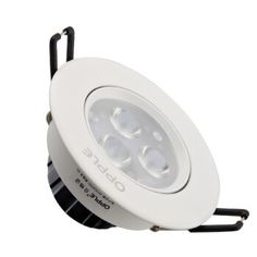 欧普射灯 LED天花灯开孔7cm-8cm一体化 4w 高银 白光(开孔7-8厘米)