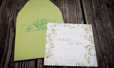 love the details on the envelope too!